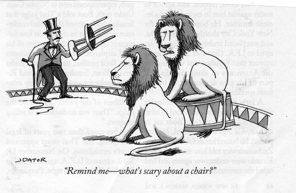 Cartoon, Lions, Is this fear real?
